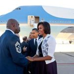 Chief Howard and President Obama and First Lady Obama